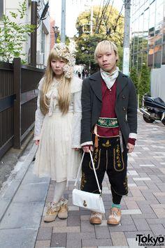 Cute dolly kei duo. Via Tokyo Fashion.