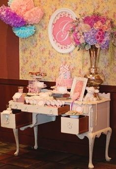 Vintage Glam Birthday Party by BellaGrey Designs