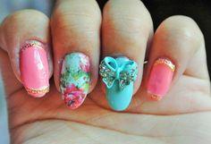 3d nail art, 2 pcs of aquamarine bow tie nail charm,nail jewelry,nail bling,elegant nails,nail art,nail decoration,nail accent,party nails