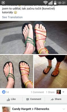 Barefoot Shoes, Denim Crafts, Diy Projects To Try, Huaraches, Gladiator Sandals, Fashion Beauty, Slippers, Walking, Inspired