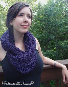Purple infinity hooded scarf by MademoiselleLaine on Etsy