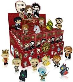 Game of Thrones Mystery Minis Series Mini-Figure Display Box - Entertainment Earth Game Of Thrones Toys, Game Of Thrones Series, Figurines D'action, Small Figurines, Funko Mystery Minis, Funko Figures, Vinyl Figures, Pop Figures, Action Toys