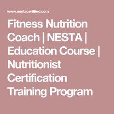Fitness Nutrition Coach | NESTA | Education Course | Nutritionist Certification Training Program