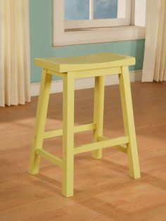 "Color Story Butter Yellow Counter Stool 24"" tall - Powell - $58"