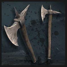 Fantasy Weapons, Fantasy Rpg, Chivalry, New Skin, Warfare, Axe, Workshop, Empire, Cold
