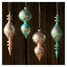 Pastel Finial Ornaments