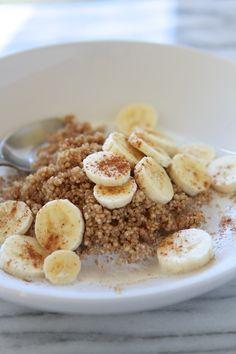 Microwave Cinnamon Maple Breakfast Quinoa  #healthy #quinoa #recipes http://greatist.com/eat/breakfast-quinoa-recipes