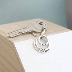 Personalised Family Names Sterling Silver Keyring A stunning 925 sterling silver keyring ready to be personalised with words of your choice. As handmade in the Brighton workshop by Posh Totty Designs. Featuring three signature Family Names rings, eac http://www.MightGet.com/january-2017-13/personalised-family-names-sterling-silver-keyring.asp