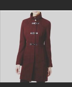 NEW Banana Republic Women/'s Red Wool Coat Trench Blazer Jacket 4 or 6 or 8 S M