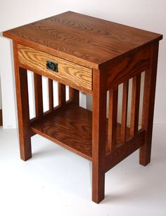 mission-crafstman end table or night stand by klwilmes on Etsy Decor, Furniture, Craftsman Furniture, Mission Furniture, Diy End Tables, Furniture Plans, Mission Style Furniture, End Tables, Wood Table