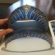 Chaumet blue transparent enamel and diamond tiara formerly with the Dukes of Westminster