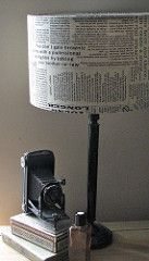 newspaper fabric lampshade   handmade in the Uk by the ladie…   Flickr