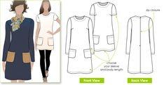 Stylish jersey slip on dress with raglan sleeve dress