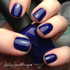 cobalt blue nails.