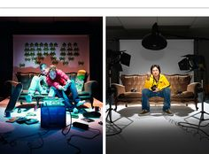 Naughty Fish created a range of scenarios based around a couch in a studio to represent the different degrees offered by Raffles School of Design