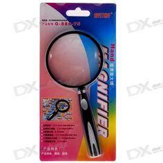 Mystery 73mm Handheld Magnifier G-888-75. Color: Black - Quantity: 1 - Model: G-888-75 - Main Mirror Magnification: 3X - Main Mirror Diameter: 73mm - The small one with 21mm diameter and 4X magnification. Tags: #Electrical #Tools #Hand #Tools #Magnifiers
