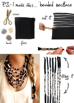 Beaded Necklace. I 8 Totally Portable Projects For Your Summer Road Trip