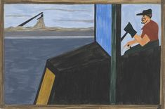 Jacob Lawrence: The World War had caused a great shortage in Northern industry and also citizens of foreign countries were returning home (1940-41)