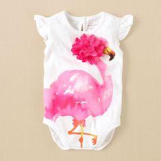 newborn - girls - flamingo bodysuit | Children's Clothing | Kids Clothes | The Children's Place