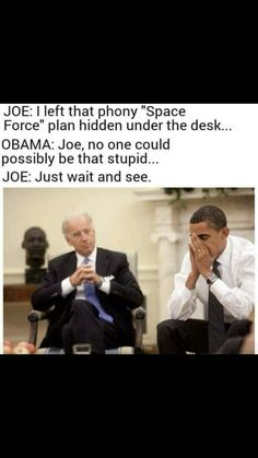 Barack Obama and Joe Biden had a true frendship which was captured by many pictures, some of them funny. At some point the internet started captioning those funny pictures and the Biden-Obama Meme was BORN. Joe And Obama, Obama And Biden, Joe Biden, Funny Posts, Funny Shit, The Funny, Funny Stuff, Funny Things, Random Stuff