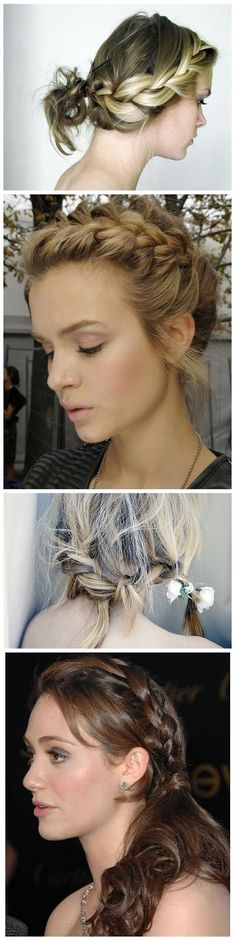 4 Beautiful French Braid Hairstyles