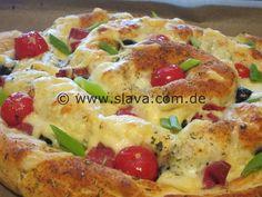 Mediterrane XXL Grill-Pizza-Schnecke mal anders | kochen & backen leicht gemacht mit Schritt für Schritt Bilder von & mit Slava