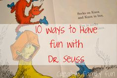 What better way of celebrating Dr. Seuss's birthday than by having fun with one of his books! What is your favorite Dr. Seuss book? (Mine is Horton Hears a Who)