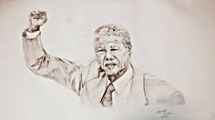 Pencil drawing on a4 paper made by mohit Kumar rao #nelson #mandela