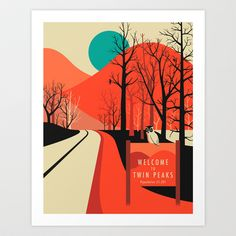 Buy Twin Peaks by Jazzberry Blue as a high quality Art Print. Worldwide shipping available at Society6.com. Just one of millions of products available.