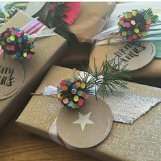 Embrulhos natalinos  @roxyoxy_creations