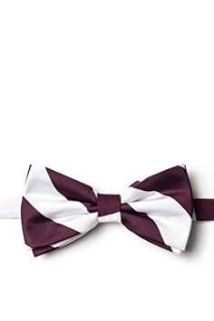 4c6cefe3a529 Maroon & White Stripe Maroon Microfiber Pre-Tied Bow Tie Review Cheap Bow  Ties,