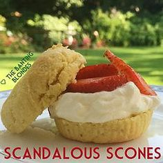 LCHF scones made with almond flour. Grain free. Banting and Keto friendly. Yes please!