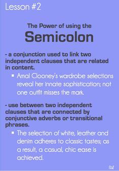 Good Grammar Is . . . Mastering The Semicolon