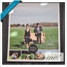 Gigantografía... ideal para decorar detrás de la mesa de los novios o la torta de bodas! hola@invita-me.com.ar