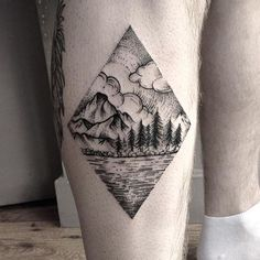 beautiful landscape tattoo done by @sergeant_fox for bookings contact her directly on email s.fox.tattoo@gmail.com