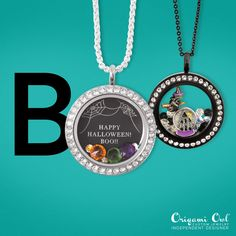 Get ready for Halloween in style with Origami Owl's Halloween collection. Available 9/1. Cute new charms, charms back from the vault, and a black Inscription plate with a web design waiting for you to put your spoooooky message on. Add all these to your locket for a haunting style.