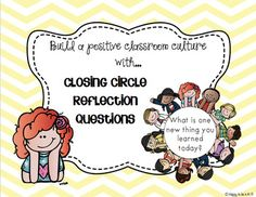 End of the Day Closing Circle Reflection Cards - UPDATED 1