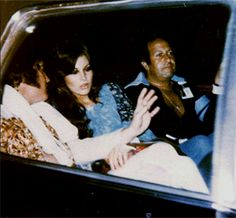 Elvis after his Cincinnati show in june 25 1977 in car back to his hotel. Joe Esposito was in the car with Elvis girlfriend Ginger Alden.