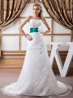 Marrilee - trapezio cuore abito da sposa in raso con a paillette