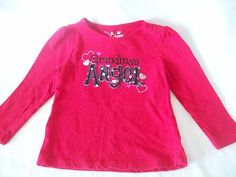 "$7.49/FREE *domestic* SHIPPING  PRICE *just* REDUCED ~  Jumping Beans ""Grandma's Angel"" Shirt/Top Toddler Girl Size 3T Red Long Sleeve @http://www.stores.ebay.com/Shellys-Sweet-Finds"
