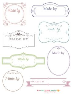 Free Printable Victorian Labels for Handmade Crafts