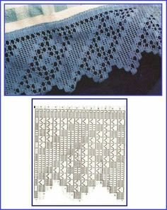 Risultati immagini per miria croches e pinturas Filet Crochet, Crochet Lace Edging, Crochet Leaves, Crochet Borders, Crochet Diagram, Crochet Stitches Patterns, Doily Patterns, Crochet Chart, Thread Crochet