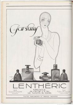 Parfums Lenthéric - pub magazine Vogue 1926