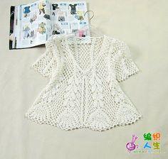 Hooked on crochet: Crochet top / Blusa de crochê / Blusa en ganchillo