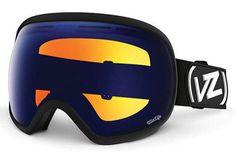 VonZipper - Fishbowl Black Satin BLW Goggles, Wildlife Lenses