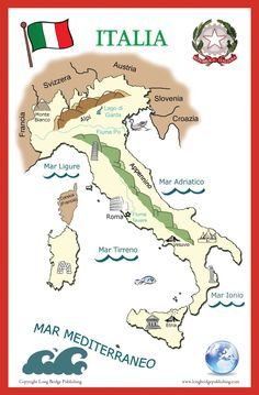 Italia fisica - cartellone scolastico