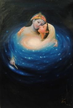 Radha & Krishna are the ultimate twin flames. Krishna is also one of my favorite loving deities.