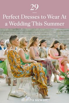 We've rounded up the best dresses to wear when attending a wedding this summer, from classic styles to modern cus to wear to every type of wedding dress code. #weddingideas #wedding #marthstewartwedding #weddingplanning #weddingchecklist Wedding Dress Types, Dream Wedding Dresses, Wedding Attire, Wedding Gowns, Mob Dresses, Nice Dresses, Bridesmaid Dresses, Summer Dresses, Summer Wedding Guests