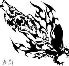 Coyote Phoenix Tattoo