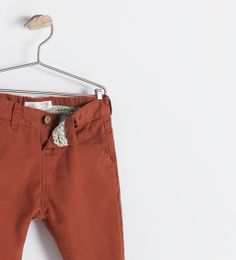 Image 3 of BASIC POPLIN CHINO TROUSERS from Zara